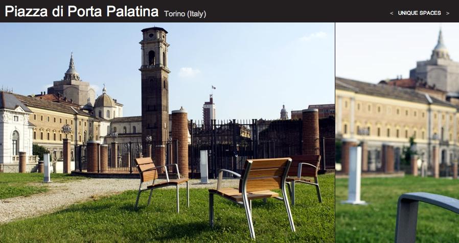 Rama Led in Torino's Piazza