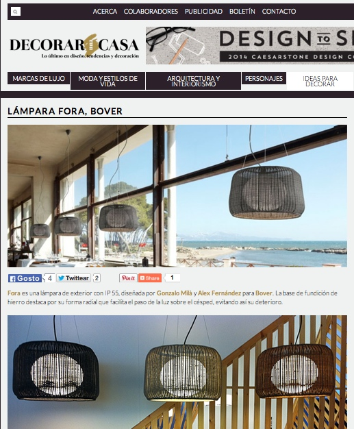 FORA lamp in Decorar Casa