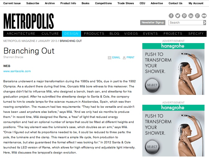 Branching Out – Metropolis Magazine